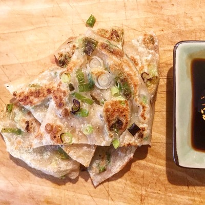 This recipe for scallion pancakes involves a little advance planning, but the flakey, crispy, chewy, oniony result is well worth the effort.