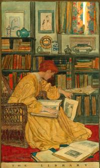 Illustration by Elizabeth Shippen Green for Harper's Magazine
