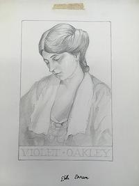Edith Emerson (1888-1981), Violet Oakley, n.d. Pencil drawing. Free Library of Philadelphia, Print and Picture Collection.