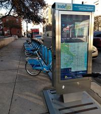 Parkway Central Library Indego Bike Station on 19th Street