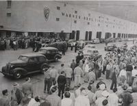 International News Photos. Warner Brothers Strike 1945 - Overturned Cars*