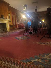 Filming in the Elkins Room