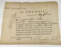 1786 document signed by Benjamin Franklin as President of the