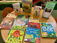 Book display for Gardening for Kids