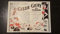 Playbill advertisement for a Gilda Gray performance