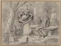 Hablot Knight Browne, The Goblin and the Sexton, 1873, illustration for <i>The Posthumous Papers of the Pickwick Club</i> by Charles Dickens.