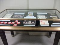 One of the cases in the new Carolyn Haywood exhibit, on the ground floor of Parkway Central.