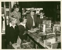 Carolyn Haywood at a book signing, 1949.