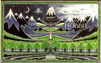 The Hobbit first edition book cover, illustrated by J.R.R. Tolkien