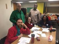 Dan Ryan (in green) and his Cohort 3 colleagues
