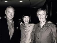 Jasper Johns, Margaret Leng Tan, and John Cage at Whitney Museum of American Art, 1991. Photo credit: George Hirose