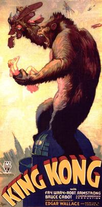 Poster for original King Kong film, 1933