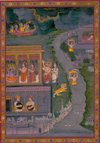 The Birth of Krishna | Rajasthan, India, ca. 1650-1700 | Lewis R7