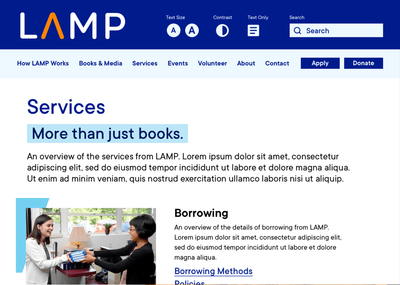 Find services, collections, and more information at MyLAMP.org.