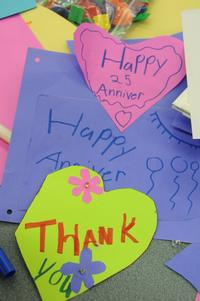 LEAP participants created thoughtful cards celebrating the 25th anniversary of LEAP.