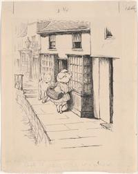 Original drawing for Little Pig Robinson, 1930