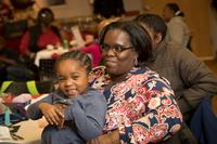 LaJohnya and her daughter, Aja, at the Celebration Dinner held at Honickman Learning Center