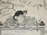 McDermot and his earring, detail from Captain Kidd's Cat endpapers