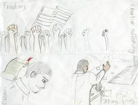 "Middle School Winner – ""Freedom"" by Nickolas B., 7th grade, Haverford Branch Library LEAP program"