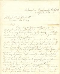 A letter from Robert E. Lee, announcing his resignation from the U.S. Army after Virginia seceded