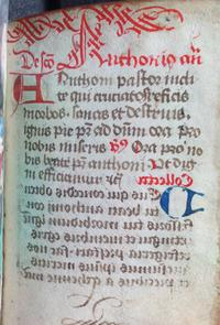 Mirror image, Prayer book, Lewis E 175, folio 91 verso