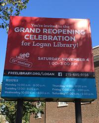 After a year and a half of undergoing extensive renovation and expansion, Logan Library will reopen its doors on Saturday, November 4!