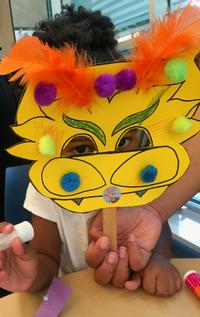 Asian craft program at Lovett Memorial Library