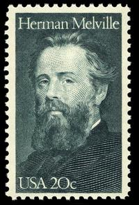 Herman Melville 20c U.S. stamp, issued on August 1, 1984