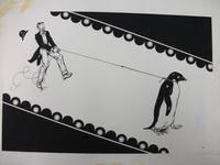 The endpapers for <i>Mr. Popper's Penguins</i>