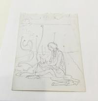 Violet Oakley (1874-1961), E. Drawing Onions, n.d. Pencil drawing. Free Library of Philadelphia, Print and Picture Collection.