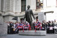 Unveiling of Octavius Catto statue in front of City Hall, September 26, 2017. Photo credit Phila.gov