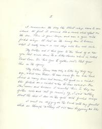 The first page of the manuscript for <i>Island of the Blue Dolphins</i>.