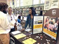 Job seekers at Paschalville Library