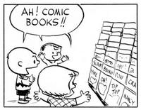 Even the Peanuts gang loves to read comics!