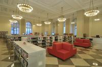 The newly restored Philbrick Hall at Parkway Central Library