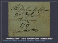 BMs 99 Written 10 September 1787  Courtesy Free Library of Philadelphia