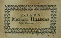 Michael Hillegas Bookplate from his Music Arranged for Harpsichord