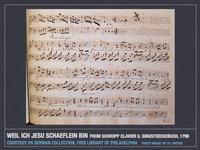 Weil ich Jesu Schäflein bin from C.S. Schropp Clavier und Singstücke, 1799