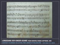 Lobgesang der Kinder Adams from Sarah Horsfield Music Copybook, 1803