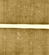 Lion en rampant Watermark, Borneman Manuscript 1