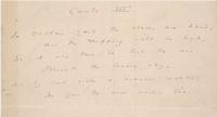 Oscar Wilde. Autograph Manuscript [fragment] of the Ballad of Reading Gaol; Canto III with comment, ca. 1897. Gift of Mrs. Richard Gimbel.