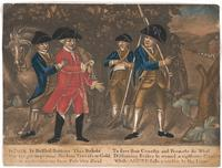 Samuel Blyth, Ye Foil'd Ye Baffed Britons (The Capture of Major Andre) ca. 1780, mezzotint, hand colored.