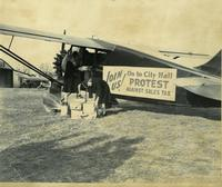 Item No: pdcp00633 Title: Sales Tax Protest Plane Historical Images of Philadelphia