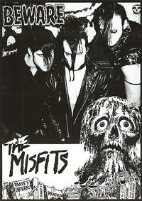 The Misfits, appropriating some EC Comics artwork for this promo poster.