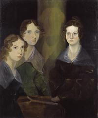 Emily, Anne, and Charlotte Brontë, as painted by their brother, Branwell.