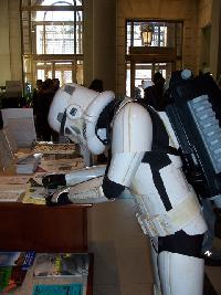 A Storm Trooper Fills Out a Library Card Application