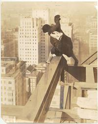 Vivian Shirley on top of the Drake Hotel (under construction), 1/29/1929