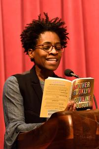 Jacqueline Woodson reading from her book, <i>Another Brooklyn</i>, at Free Library.