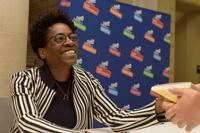 Renowned author Jacqueline Woodson will speak at the Parkway Central Library for the 2018 <i>One Book, One Philadelphia</i> Kickoff.