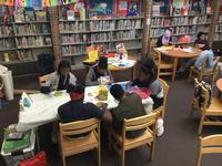 Students gather at Ramonita G. de Rodriguez Library for LEAP afterschool programming